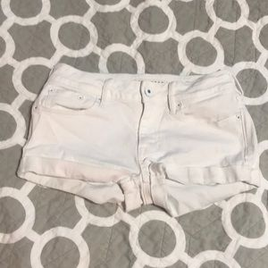 BULLHEAD WHITE DENIM SHORTS